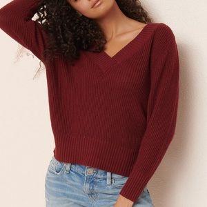 GARAGE | Slouchy V-Neck Sweater